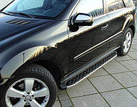 Mercedes GL klass X164 Боковые площадки BlackLine (2 шт, алюминий)