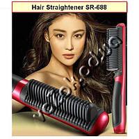 Электрическая расческа-выпрямитель  SR-688 Hair Straightener с Led дисплеем, фото 1