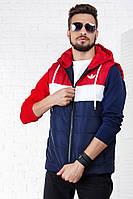 Жилетка мужская синяя adidas  РО/-1045