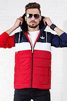 Жилетка мужская красная adidas  РО/-1045