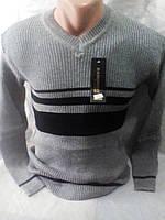 Молодежный мужской тонкий приталенный свитер