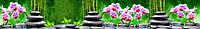 Стеклянный кухонный фартук- Орхидеи спа