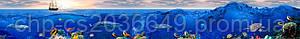 Стеклянный кухонный фартук - Море