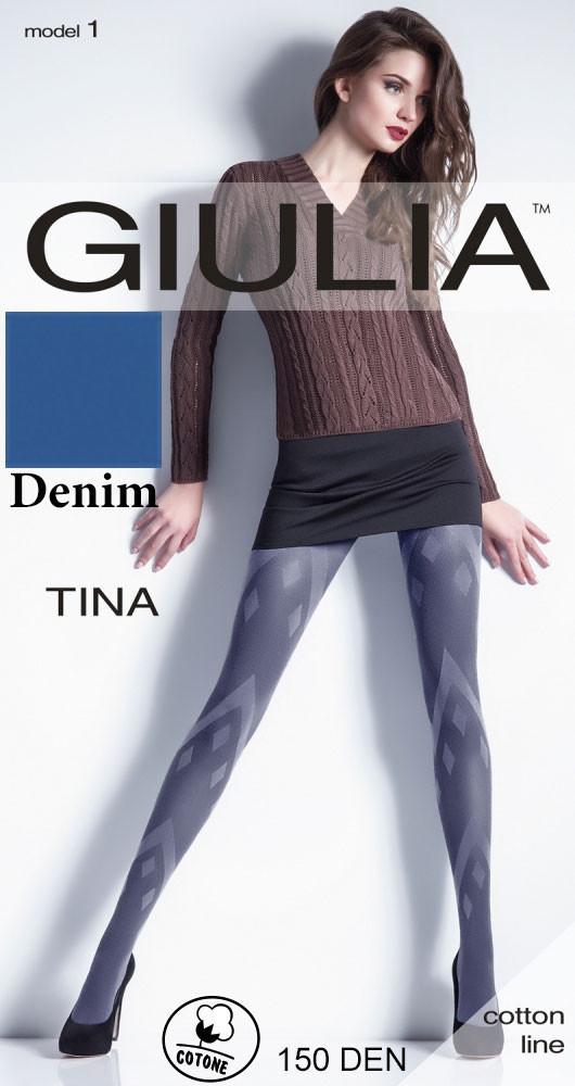 Колготки с рисунком Giulia TINA 150 model 1 с геометрическим рисунком