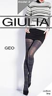 Теплые женские колготы с большим содержанием хлопка и с орнаментом  GEO 200 (2)
