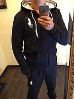 Спортивный костюм мужской чёрный  POLO РО/-1010