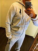 Спортивный костюм мужской серый  POLO РО/-1010