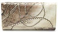 Классический кожаный женский кошелек рептилия H.VERDE art.2030-E02, фото 1