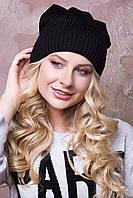Женская вязаная шапка с ушками в 10ти цветах AC Катюша