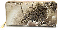 Модный кожаный лаковый женский кошелек с цветочным принтом H.VERDE art. 2480-E02, фото 1