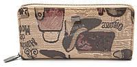 Модный кожаный лаковый женский кошелек барсетка H.VERDE art. 2480-F15, фото 1