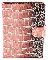 Классическое кожаное женское портмоне бумажник под рептилию H.VERDE art.2176-E43