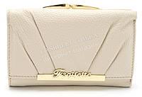 Модный матовый кожаный женский кошелек белого цвета SALFEITE art. 12179