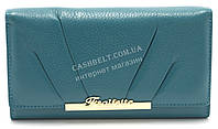 Модный матовый кожаный женский кошелек голубого цвета SALFEITE art. 12181, фото 1