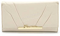 Модный матовый кожаный женский кошелек белого  цвета SALFEITE art. 12181