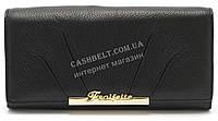 Модный матовый кожаный женский кошелек черного  цвета SALFEITE art. 12176, фото 1