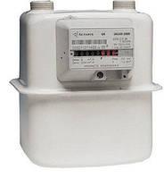 Газовый счетчик Галлус 2000 G 2.5: расход 0,25-4 м³/ч, -40 +50°C, корпус сталь, вертикальный монтаж