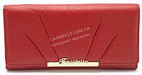 Модный матовый кожаный женский кошелек красного  цвета SALFEITE art. 12176, фото 1