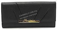 Модный матовый кожаный женский кошелек черного  цвета SALFEITE art. 12178, фото 1