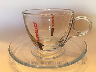 Кофейный сервиз (Kimbo Glass Cappuccino)