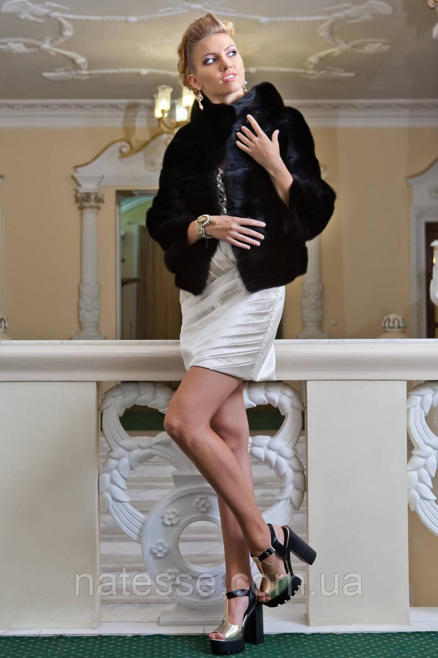 """Шуба з канадської норки BlackNAFA """"Ксенія"""" Real mink fur coats jackets"""