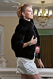 "Шуба з канадської норки BlackNAFA ""Ксенія"" Real mink fur coats jackets, фото 2"