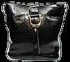 Сумка женская черная кожаная на плечо