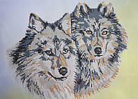 """Схема для вышивки бисером """"Пара волков"""""""