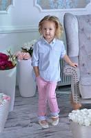 Брюки розовый стрейч-джинс LILU для девочки