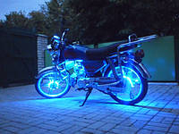 Подсветка на мотоцыкл—Синяя