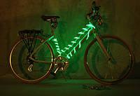 Подсветка для велосипеда светящимся шнурками 4-го покл.