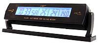 Автомобильные часы VST-7013V (вольтметр+2 термодатчика)