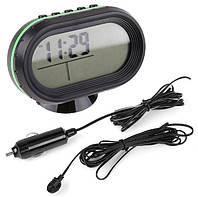 Автомобильные часы VST-7009V (вольтметр +2 термодатчика)