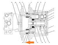 Соединительная муфта 155-0181 редуктора хода для Caterpillar 318B