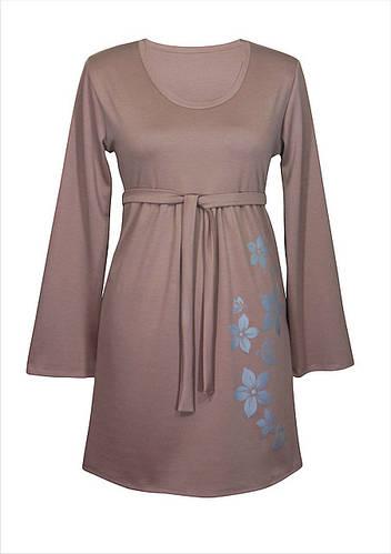 Платье с вырезом декольте Цветы