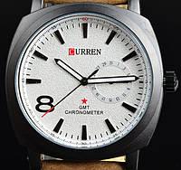 Модные Мужские Часы Curren черные Белый