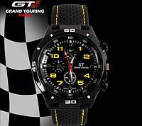 Street Racer GT Мужские часы   Черные с желтым