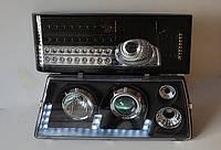 Передние черные+задние серые фары на ВАЗ 2109 №1