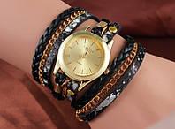 Шикарные часы-браслет.  Черные. 8 цветов (Код 02)