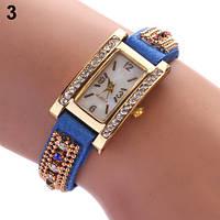 Шикарные часы-браслет.  Синие. 9 цветов (Код 03)