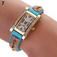 Шикарные часы-браслет.  Голубые. 9 цветов (Код 03)