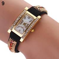 Шикарные часы-браслет.  Черные. 9 цветов (Код 03)