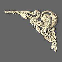 Кутовий різьблений елемент флористичний 100х80