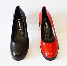 Туфли женские красные Estomod 142, фото 2