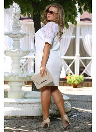 Женское красивое платье Бруклин белое  до 72 размера / большие размеры, фото 2