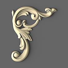 Різьблений декор кутовий 55х70