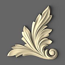 Кутовий декор з дерева різьблений 50х50