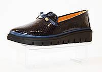 Туфли синие на платформе Phany 440