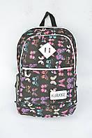 Рюкзак школьный,спортивный Бабочки Чёрный НОВИНКА!!!