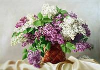 """Алмазная мозаика """"Сирень из моего сада"""", картина стразами 40*30см"""